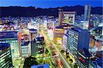 Kobe, Japan downtown district at Sannomiya. Stock Photo - Royalty-Free, Artist: sepavo                        , Code: 400-06741340