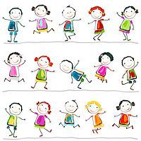 group of happy children playing Stock Photo - Royalty-Freenull, Code: 400-06748087