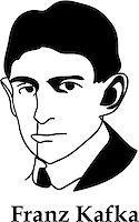 franxyz - Franz Kafka - black and white (vector) Stock Photo - Royalty-Free, Artist: vyskoczilova, Code: 400-06748179