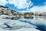 Spring alps mountain lake Lago della Piazza (Switzerland, Passo del San Gottardo) Stock Photo - Royalty-Free, Artist: Yuriy                         , Code: 400-06748375