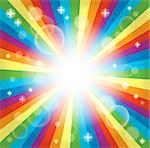 Image with rainbow theme 3 - eps10 vector illustration. Stock Photo - Royalty-Free, Artist: clairev                       , Code: 400-06749074