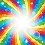 Image with rainbow theme 4 - eps10 vector illustration. Stock Photo - Royalty-Free, Artist: clairev                       , Code: 400-06749075