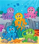 Octopus theme image 1 - eps10 vector illustration. Stock Photo - Royalty-Free, Artist: clairev                       , Code: 400-06749085