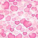 Seamless background with hearts 9 - eps10 vector illustration. Stock Photo - Royalty-Free, Artist: clairev                       , Code: 400-06749088