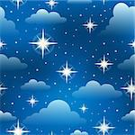 Seamless background with stars 3 - eps10 vector illustration. Stock Photo - Royalty-Free, Artist: clairev                       , Code: 400-06749089