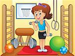Sport and gym theme image 4 - eps10 vector illustration. Stock Photo - Royalty-Free, Artist: clairev                       , Code: 400-06749098