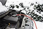 Wires on car battery in snow Stock Photo - Premium Royalty-Free, Artist: Blend Images, Code: 6113-06753375