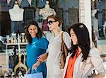 Women shopping together on city street Stock Photo - Premium Royalty-Free, Artist: Cultura RM, Code: 6113-06753639