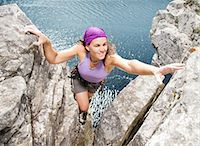 rock climber - Climber scaling rock formation Stock Photo - Premium Royalty-Freenull, Code: 6113-06754168