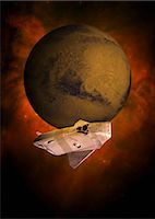 spaceship - Space exploration, computer artwork. Stock Photo - Premium Royalty-Freenull, Code: 679-06755643