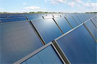 solar power - Solar panels, computer artwork. Stock Photo - Premium Royalty-Freenull, Code: 679-06755742