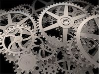 Cogs and gears, computer artwork. Stock Photo - Premium Royalty-Freenull, Code: 679-06755869