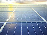 solar power - Solar energy, computer artwork. Stock Photo - Premium Royalty-Freenull, Code: 679-06755891