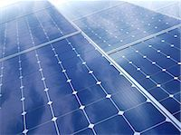 solar power - Solar energy, computer artwork. Stock Photo - Premium Royalty-Freenull, Code: 679-06755892