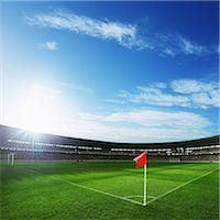 Flag At Corner Of Football Ground Stock Photo - Premium Rights-Managednull, Code: 858-06756208