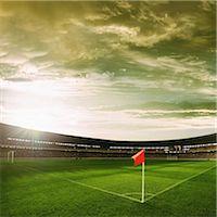 Flag At Corner Of Football Ground Stock Photo - Premium Rights-Managednull, Code: 858-06756213