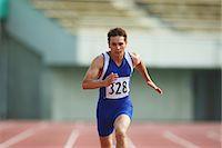 sprint - Runner On Track Stock Photo - Premium Rights-Managednull, Code: 858-06756328