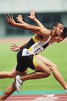 sprint - Runners Competing Stock Photo - Premium Rights-Managednull, Code: 858-06756333