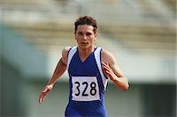 runner (male) - Runner On Track Stock Photo - Premium Rights-Managednull, Code: 858-06756344