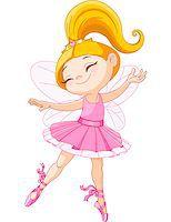 Illustration of a happy little fairy ballerina Stock Photo - Royalty-Freenull, Code: 400-06763744