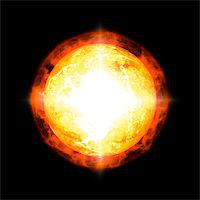 An image of a cool sun in space Stock Photo - Royalty-Freenull, Code: 400-06765045