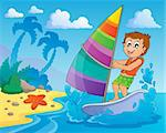 Water sport theme image 2 - eps10 vector illustration.