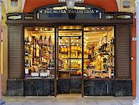 supermarket not people - specialty meat storefront window, Modena, Italy Stock Photo - Premium Rights-Managednull, Code: 700-06773317