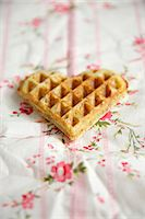 Heart Shaped Waffle, Munich, Bavaria, Germany, Europe Stock Photo - Premium Royalty-Freenull, Code: 6115-06778491