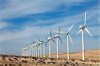Wind turbines, Costa Calma, Fuerteventura, Canary Islands. Stock Photo - Premium Royalty-Freenull, Code: 679-06780915