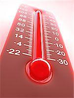 High temperature, computer artwork. Stock Photo - Premium Royalty-Freenull, Code: 679-06780936