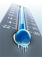 Low temperature, computer artwork. Stock Photo - Premium Royalty-Freenull, Code: 679-06781003