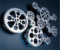 Cogs and gears, computer artwork. Stock Photo - Premium Royalty-Freenull, Code: 679-06781055