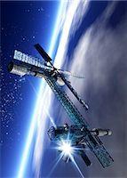 spaceship - Space hotel, computer artwork. Stock Photo - Premium Royalty-Freenull, Code: 679-06781137
