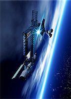 spaceship - Space hotel, computer artwork. Stock Photo - Premium Royalty-Freenull, Code: 679-06781138