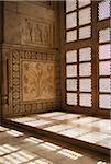 Moucharaby Window Detail inside Taj Mahal, India