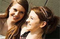 Close-up portrait of young women outdoors Stock Photo - Premium Royalty-Freenull, Code: 600-06786785
