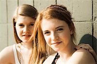 Close-up portrait of young women outdoors Stock Photo - Premium Royalty-Freenull, Code: 600-06786786