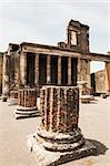 ruins of the Basilica in Pompeii, Italy