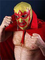 Photograph of a Mexican wrestler or Luchador posing. Stock Photo - Royalty-Freenull, Code: 400-06793068