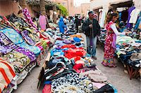 Clothes stalls in the souks of the old Medina of Marrakech, Morocco, North Africa, Africa Stock Photo - Premium Rights-Managednull, Code: 841-06804567
