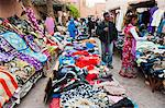 Clothes stalls in the souks of the old Medina of Marrakech, Morocco, North Africa, Africa Stock Photo - Premium Rights-Managed, Artist: Robert Harding Images, Code: 841-06804567