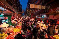 food stalls - Street Market, Hong Kong, China, Asia Stock Photo - Premium Rights-Managednull, Code: 841-06805321
