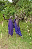 Two Surma men with scarification, Tulgit, Omo River Valley, Ethiopia, Africa Stock Photo - Premium Rights-Managednull, Code: 841-06805471