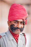 Man in red head dress, Jodhpur, Rajasthan, India, Asia Stock Photo - Premium Rights-Managednull, Code: 841-06805968