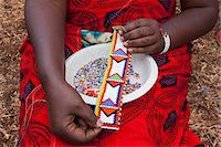 Maasai beadwork at the Predator Compensation Fund Pay Day, Mbirikani Group Ranch, Amboseli-Tsavo eco-system, Kenya, East Africa, Africa Stock Photo - Premium Rights-Managednull, Code: 841-06806104