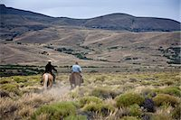 people in argentina - Gauchos riding horses, Patagonia, Argentina, South America Stock Photo - Premium Rights-Managednull, Code: 841-06806266