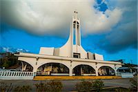 Church at sunset on Saipan, Northern Marianas, Central Pacific, Pacific Stock Photo - Premium Rights-Managednull, Code: 841-06807183