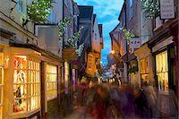 The Shambles at Christmas, York, Yorkshire, England, United Kingdom, Europe Stock Photo - Premium Rights-Managednull, Code: 841-06807698