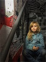 Young girl in stairwell of Palais de Tokyo, Paris, France Stock Photo - Premium Rights-Managednull, Code: 700-06808774