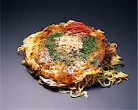 Japanese-style Okonomiyaki pancake Stock Photo - Premium Rights-Managed, Artist: Aflo Relax, Code: 859-06808726
